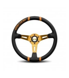 Volant MOMO DRIFTING Noir/Orange Ø35