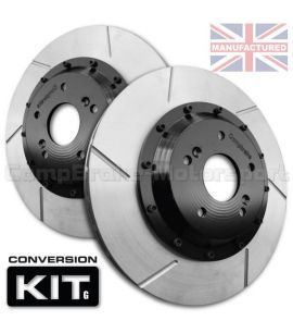 KIT DE CONVERSION DE DISQUES DE FREIN AVANT COMPBRAKE / FORD SIERRA & ESCORT COSWORTH 4WD / 278 mm x 24 mm