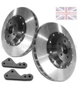 KIT DE CONVERSION DE DISQUES DE FREIN ARRIERE COMPBRAKE / FORD SIERRA & ESCORT COSWORTH 4X4 / 300 mm x 20 mm