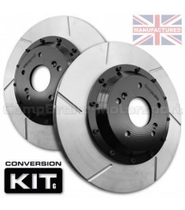 KIT DE CONVERSION DE DISQUES DE FREIN AVANT COMPBRAKE / FORD SIERRA , ESCORT , COSWORTH / 283 mm x 25 mm
