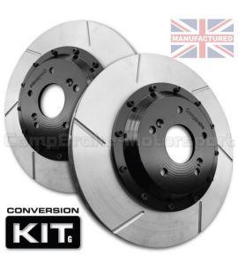 KIT DE CONVERSION DE DISQUES DE FREIN AVANT COMPBRAKE / RENAULT CLIO V6 / 330 mm x 28 mm