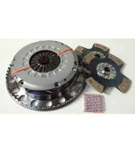Kit volant moteur acier + embrayage bi-disques TTV RACING / MEGANE 3 RS 215 mm