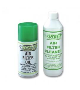 Kit de Nettoyage / d'Entretien Green pour Filtre à Air Spray 0.3L + Netoyant 0.5L - GREEN FILTER